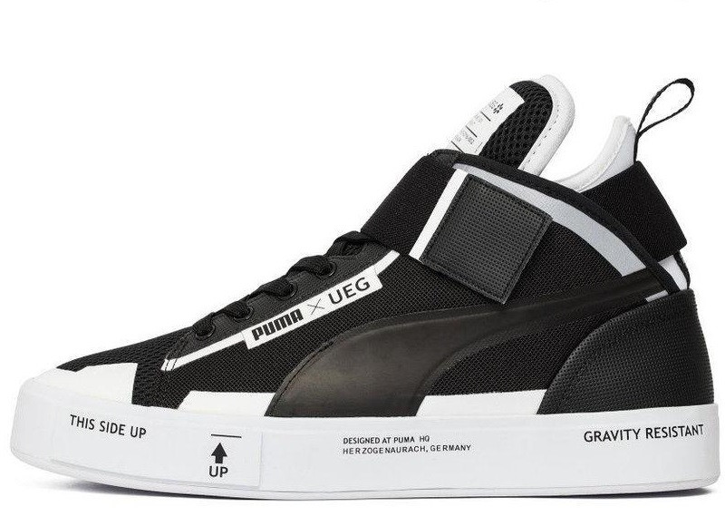 Кроссовки мужские пума Puma Court Play x UEG Black/White. ТОП Реплика ААА класса.