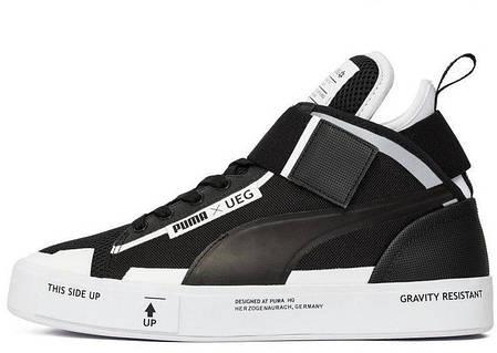 Кроссовки мужские пума Puma Court Play x UEG Black/White. ТОП Реплика ААА класса., фото 2