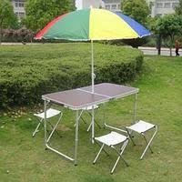 Раскладной стол и стулья для пикника в чемодане 120* 60* 70 см (туристический столик)