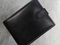 Мужской кошелек кожаный черный фирмы SWAN(Индия)
