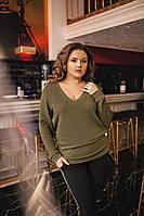 Женский  костюм больших размеров 48+  кофта и брюки с лампасами / 3 цвета арт 3821-404