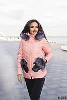 Женская демисезонная куртка с капюшоном Варежка, фото 1