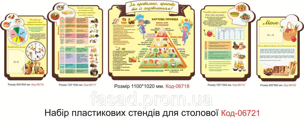 Набір стендів для їдальні Код-06721