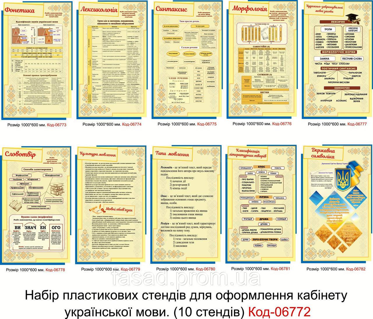 Cтенди для кабінету української мови Код-06772