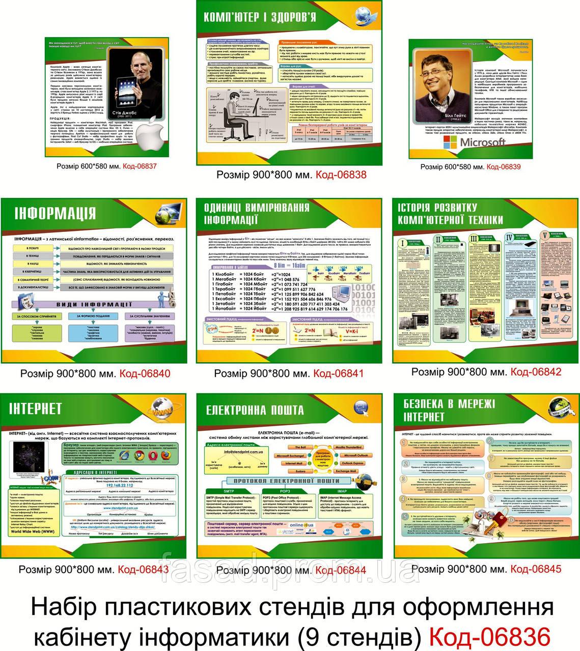 Cтенди для кабінету інформатики Код-06836