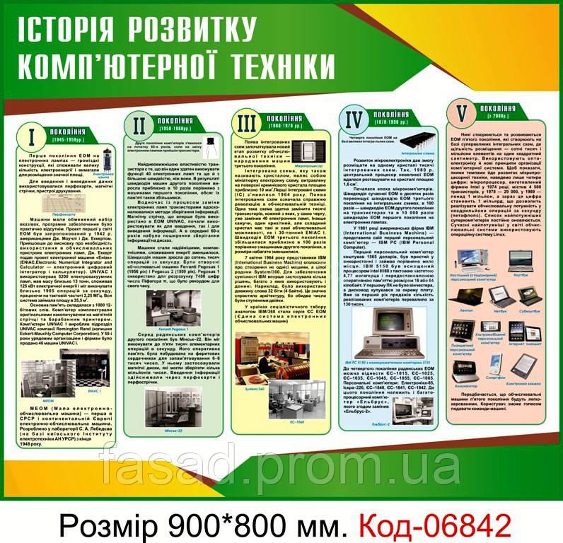 Стенд пластиковий Код-06842
