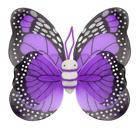 Крылья Бабочки пятнистые фиолетовые 42х48 см