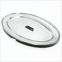 Блюдо овальное поднос металлический Empire 30х20 см, 1430