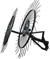 Грабли ворошилки Солнышко для мотоблока, 2 колеса