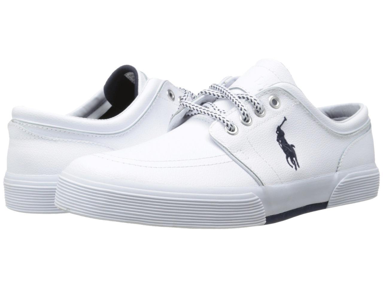 Кроссовки/Кеды (Оригинал) Polo Ralph Lauren Faxon Low White Sport Leather