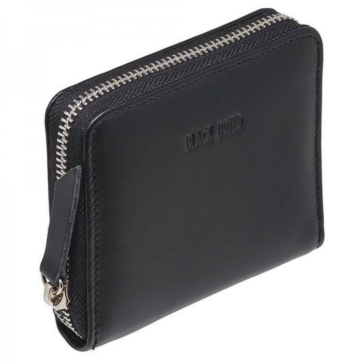 f5d4eb3104c6 Небольшой женский кошелек на молнии чёрный Black Brier арт. WW4Black -  BagShop.ua интернет