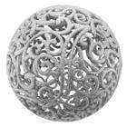 Украшение Шар ажурный 20 см серебро