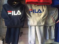 Детский спортивный костюм зима на флисе FILA