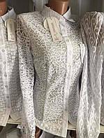 Женская блузка с длинным рукавом на пуговицах размер 42-50р