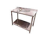 Производственный стол из нержавеющей стали с нижней полкой 1600, 500, AISI 430