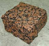 Гранітна бруківка колота, пиляно-колота бруківка, фото 3