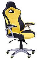 Кресло Форсаж  черный/желтые вставки, фото 1