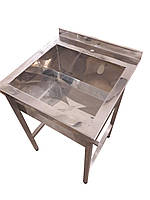 Мойка для ресторанной кухни односекционная 800, 600, 350 мм, сталь нержавейка AISI 430