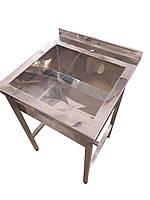 Односекционная мойка из нержавейки для столовой   800, 700, 300, AISI 304