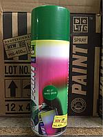 Универсальная акриловая аэрозольная эмаль BeLife (зеленая трава)