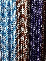 Объемные нити пружинки дождик с люрексом, разные цвета