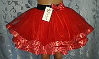 Детская фатиноваяюбка на резинке, красная
