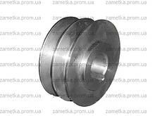 Шків двохструмкової (зовнішній діаметр 76 мм, внутрішній 20 мм, профіль)