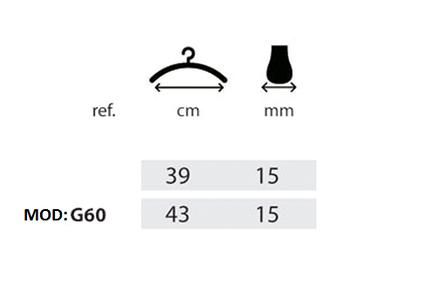 Вешалки, плечики, тремпеля с металлическим крючком 39см, фото 2