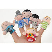 Пальчиковый кукольный театр Семья (6 игрушек)