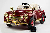 Электромобиль BS8888  на резиновых колесах. Buick RETRO (цвет бежевый,бордовый.)