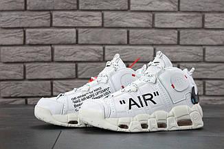 Мужские кроссовки Off-White x Nike Air More Uptempo On Feet, найк аир мор, реплика