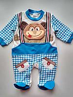Яркий человечек на мальчика Monkey blue , фото 1