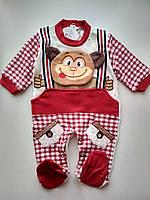 Яркий Человечек на мальчика Monkey красный, фото 1