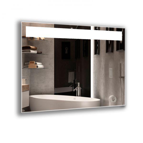 Зеркало с вертикальными полосками подсветки