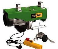 Тельфер ProCraft ТР-1000 электрический (1.6 кВт, 1000 кг, трос 12 метров)