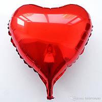 """Воздушный шар сердце красный (18""""-45см) фольга, Flexmetal"""