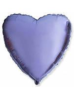 """Воздушный шар сердце лилия (18""""-45см) фольга, Flexmetal"""