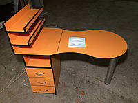 Маникюрный стол с вытяжкой цвет апельсиновый