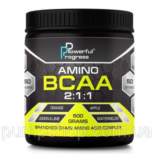 Аминокислоты Powerful Progress BCAA 500 грамм