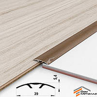Порог алюминиевый полукруглый 40х5.4мм ДУБ ЗОЛОТОЙ длина 1.8 метра