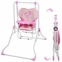 Детская напольная качели+стульчик NA 05-8, розовая, фото 1