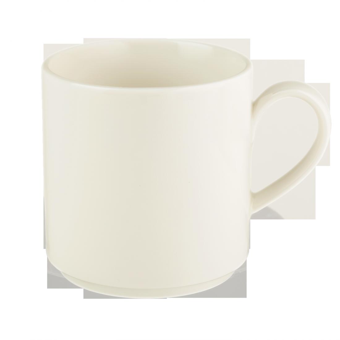 Чашка 180 мл. фарфоровая, белая coffee stackable Maxim, Seltmann Weiden