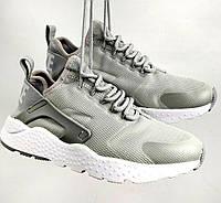 Кроссовки Nike Air Huarache Ultra Grey. Живое фото (Реплика ААА+), фото 1