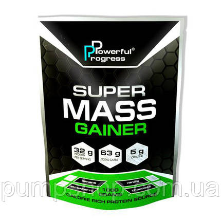 Гейнер Powerful Progress Super Mass Gainer 1000 грамм (32% белка), фото 2