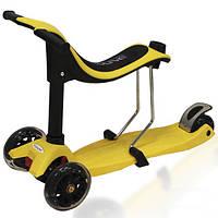 Детский трехколесный самокат Ecoline Onex 3 в 1 со светящимися колесами