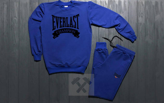 Костюм спортивный Everlast синий топ реплика, фото 2