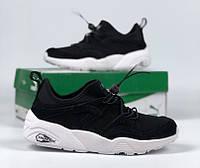 Кросівки Puma Trinomic Black/white. Живе фото (Репліка ААА+)