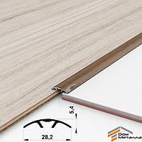 Порог алюминиевый полукруглый 30х5.4мм ДУБ ЗОЛОТОЙ длина 0.9 метра