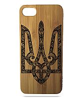 "Дерев'яний чохол  Wooden Cases для Apple iPhone 7/7s/8 з лазерним гравіюванням ""Герб України"""