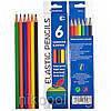 """Набор цветных карандашей Luminoso Elastico """"С"""", 6 цветов"""